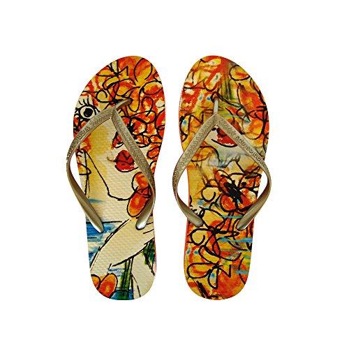 Wigglesteps , Tongs pour femme multicolore Bunt