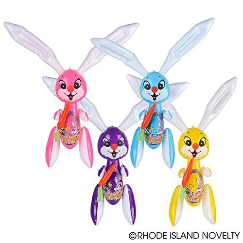 Set of 12 - Jumbo Inflatable Easter Bunny Inflates - 42 Inch Easter Rabbits by happy deals ()