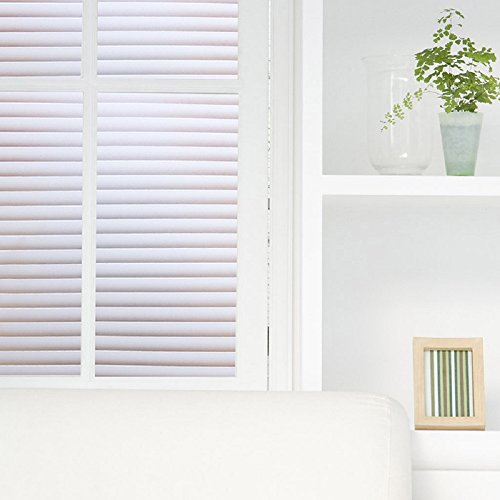 Coavas Blinds Window Film No Glue Static Film Non-Adhesive Frosted Privacy Window Decal Decorative Privacy Window Film, 35.5''x 78.7'' by Coavas