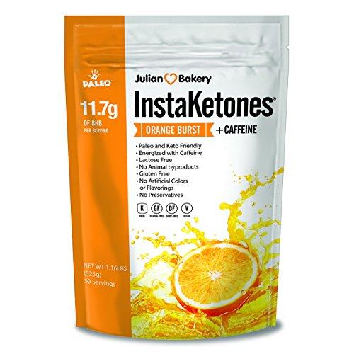 Price comparison product image InstaKetones® +Organic Caffeine (Orange Burst) (1 Pack) 11.7g BHB Per Scoop (+Caffeine) (30 Servings) Exogenous Ketones