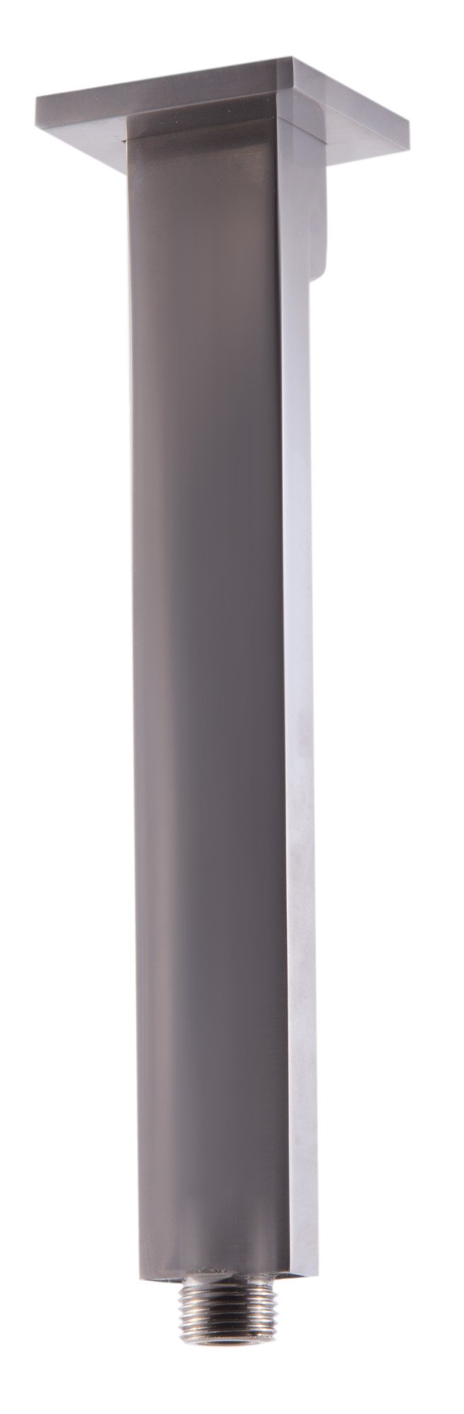 ALFI brand AB9SC-BN 9'' Modern Square Ceiling Mounted Shower Arm, Brushed Nickel