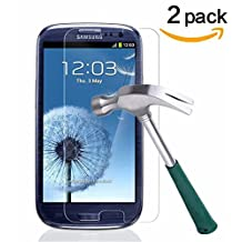 Galaxy S3 Screen Protector,TANTEK [Bubble-Free][HD-Clear][Anti-Scratch][Anti-Glare][Anti-Fingerprint] Premium Tempered Glass Screen Protector for Samsung Galaxy S3,[Lifetime Warranty]-[2Pack]