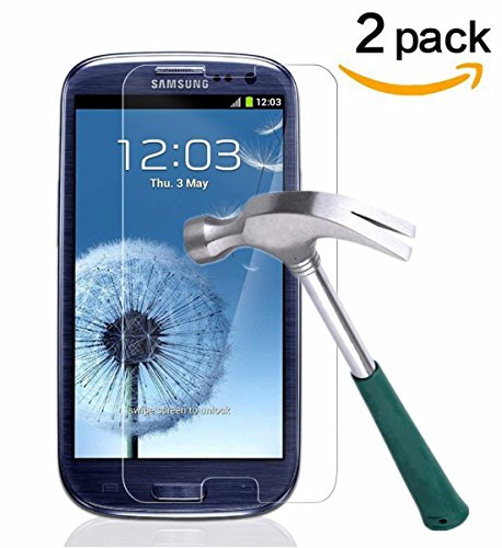 TANTEK TANTEK HD-Clear Tempered Glass Screen Protector for Samsung Galaxy S3 (2 - S3 Phone Protector Galaxy