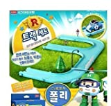 Robocar Poli Diecasting Set : Poli, Roy, Amber, Helly (Non-transformer) and Track Play Set