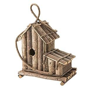 Cabaña de madera, modelo grande, diseño de pájaros