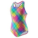 Speedo Big Girls Solid Infinity Splice One Piece Swimsuit ...Multi 6