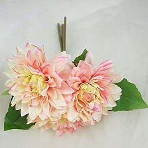 Lily Garden Dahlia Artificial Flowers Set of 6 2