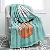 "Jekeno Sloth Print Throw Blanket Smooth Soft Blanket Kid Baby for Sofa Chair Bed Office Travelling Camping 50""x60"""