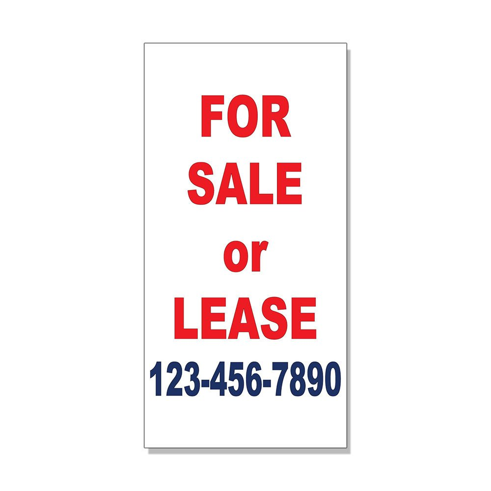 Amazon com for sale or lease phone custom red blue custom decal sticker retail store sign sticks to any surface office products