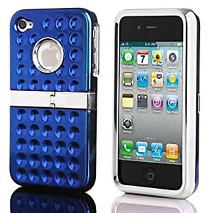 LIMME- Chrome Hard Case Cover with Kickstand for iPhone 4/4S , Golden