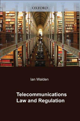 Telecommunications Law and Regulation Pdf
