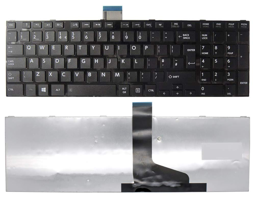 C850-1K4 Wikiparts* New UK Layout Keyboard Replacement For Toshiba Satellite Listed Laptop Models: C850-1DD C850-1EQ C850-1KN C850-1GF C850-1JV C850-1KM C850-1F2 C850-1JZ C850-1E7