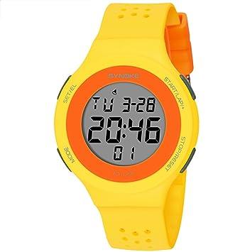 GeKLok Reloj deportivo, Niños, Niños, Niños, Adolescentes, Electrónico Impermeable Digital Militar