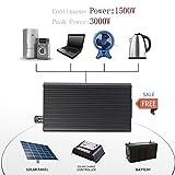 Qulable 1500W Aluminum Alloy DC12V To AC110V Car Power Inverter Converter Transformer