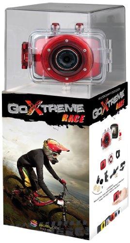 Easypix Goxtreme Race - Videocámara de 5 Mp (pantalla de 2', resistente al agua), rojo