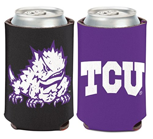 WinCraft NCAA Texas Christian University TCU Horned Frogs 1 Pack 12 oz. 2-Sided Can Cooler (Christian University Texas)