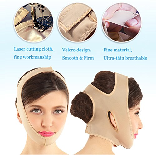 Joly Full Face Style Anti Wrinkle Face Slimming Cheek Mask Lift V Face Line Slim 4 Size for Your Choice (S-#1840)