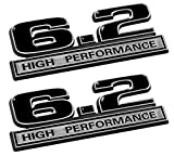 2010 camaro emblems - 6.2 Liter High Performance Emblems in Black and Chrome - Pair