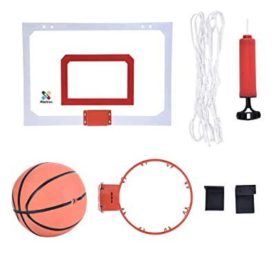 Mini Basketball Hoop and Balls, Over The Door Mini Hoop, Indoor Outdoor Sports Game with Ball and Hand Pump Set, Mini Basketball Decompress Game for Children and Adults, Ship from USA Directly: Kitchen & Dining