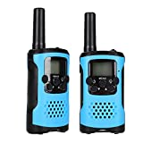 VGEBY 1 Pair Walkie Talkie, Children 22 Channels Two Way Radio Wireless Interphone With Clips and Manual(Blue)