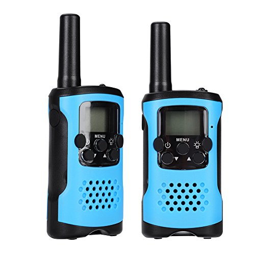 VGEBY 1 Pair Walkie Talkie, Children 22 Channels Two Way Radio Wireless Interphone With Clips and Manual(Blue) by VGEBY