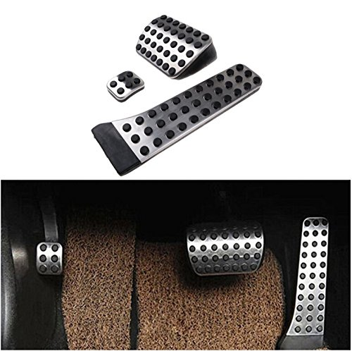 etopmia BEZ No Drill Fuel Brake Foot Pedals For Mercedes Benz C/E/S/GLK/SLK/CLS/Sl Class Silver (1 Pack) (Clutch Benz A/c Mercedes)