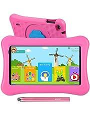 10.1 tums surfplattor för barn AWOW Tablet PC för barn, Android 10 Go Quad Core, 2GB RAM 32GB Rom, iWawa förinstallerad med Kids-Proof case och Stylus Pen, Anti-blue Light Eye Protection, dubbel kamera, Föräldrakontroller (Rosa)