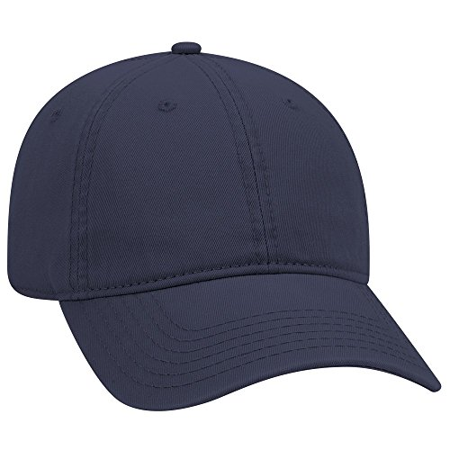 Otto Dad Hat 6 Panel Garment Washed 18-772- with NoSweat Hat Liner (Navy, (Unstructured 6 Panel Garment)