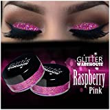 Raspberry Pink GlitterWarehouse Holographic Loose Glitter Powder Great for Eyeshadow / Eye Shadow, Makeup, Body Tattoo, Nail Art and More!
