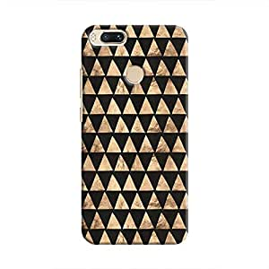 Cover It Up - Brown Black Triangle Tile Mi A1 Hard Case