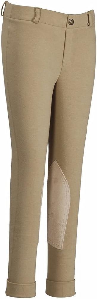 TuffRider Pantalon d/équitation /à Enfiler Taille Basse pour Fille