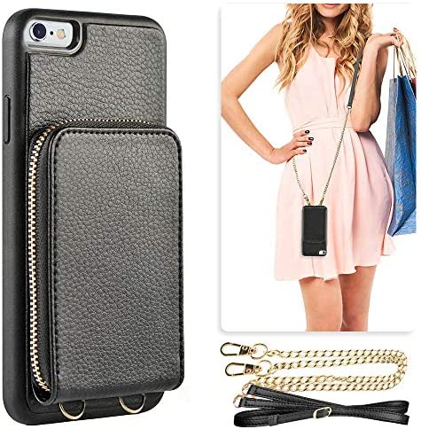 iPhone JLFCH Leather Detachable Crossbody