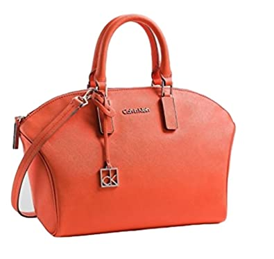 a030c1640eb Calvin Klein Scarlett Saffiano Leather City Dome Satchel (ORANGE FIRE):  Handbags: Amazon.com
