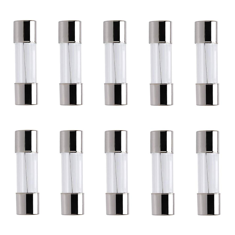F5A pack of 10 pcs F5AL Fast-Blow Fuse 5A 250V Glass Fuses 5 x 20 mm 5amp