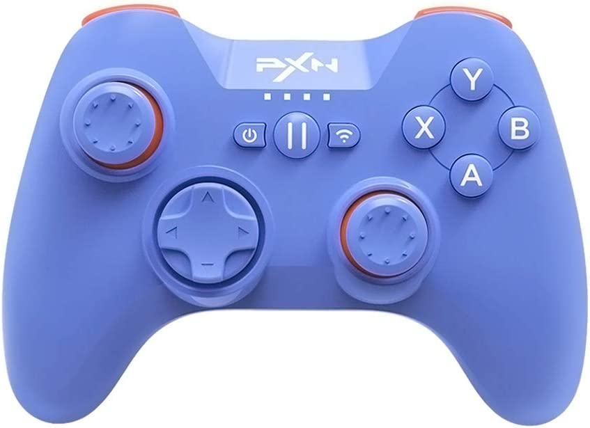 Bluetooth Mobile Gaming Controller for iPhone, PXN 6603 Speedy MFi Wireless Game Controller for iOS, Apple TV, iPod, iPad(Blue)