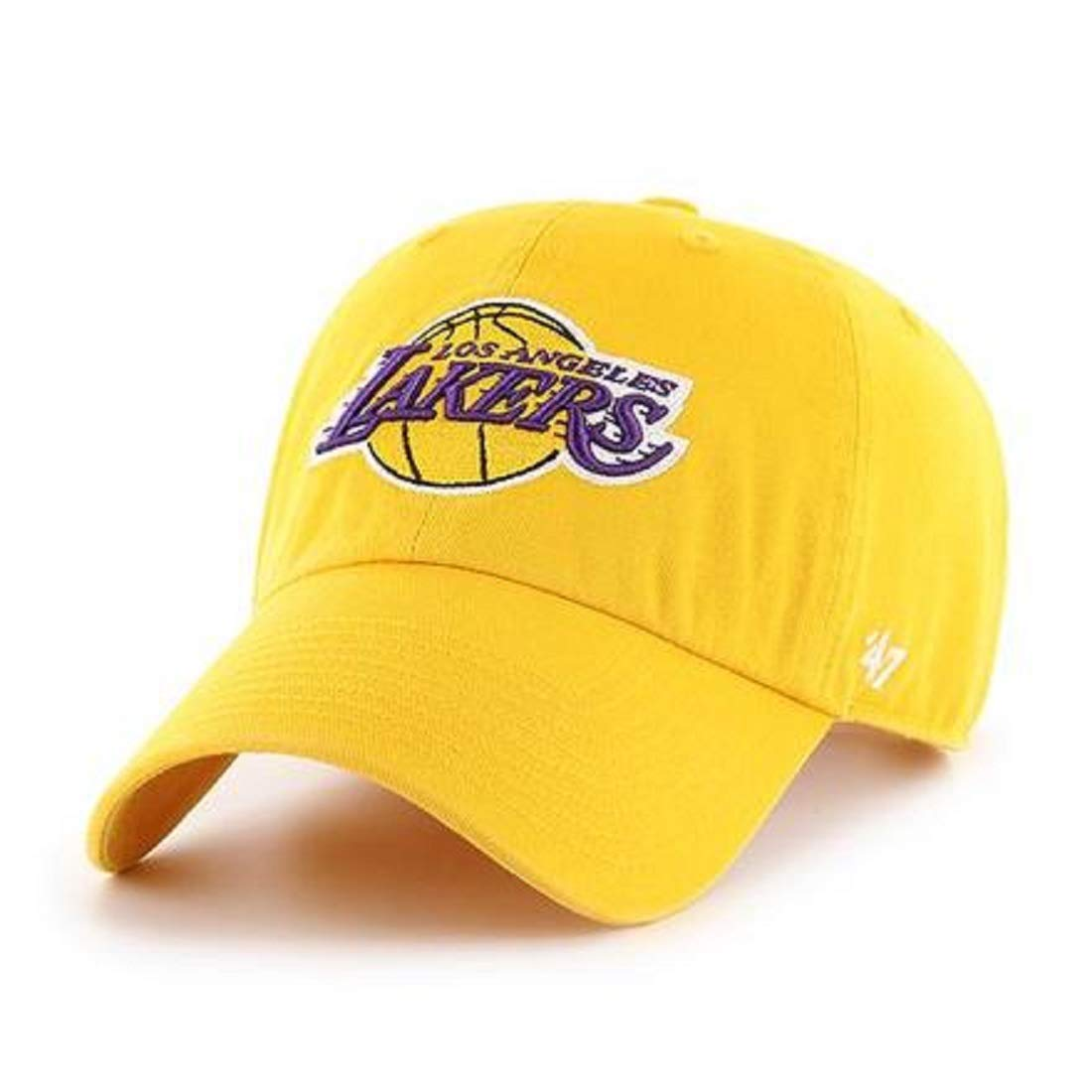 '47 NBA Los Angeles Lakers Clean Up Adjustable Hat, Yellow, One Size