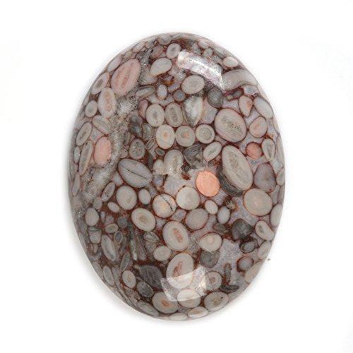 40x30mm Oval Cabochon CAB Flatback Semi-Precious Gemstone Ring Face (Chrysanthemum Jade)