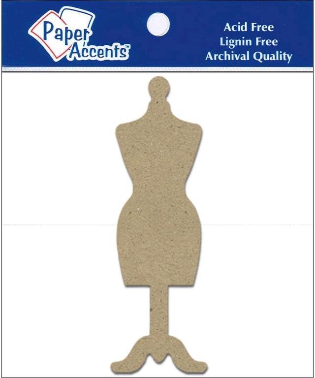 Accent Design Paper Accents Shape 8pc Dress Form Chip ShapesDressForm