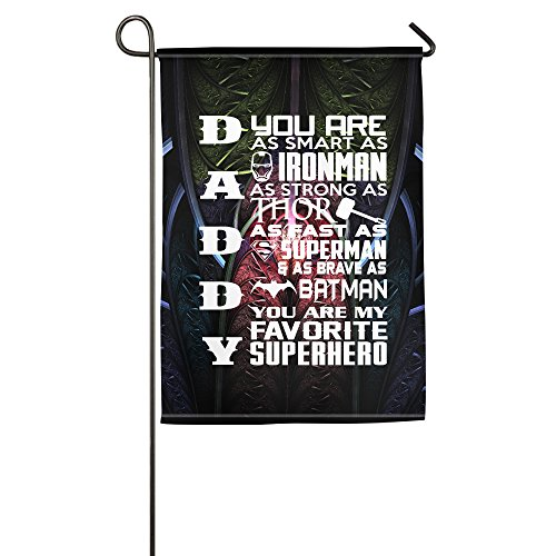 Printed Daddy - My Superhero Father's Day Garden House Outdoor Flags (Superheroes Outfit)