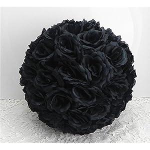 "DIY 25 Colors Rose Pomander Flower Kissing Ball Parts Wedding Home Decoration Black - ball parts-15cm 5.9"" 108"