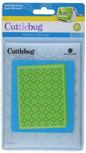 Provo Craft Cuttlebug A2 Embossing Folder, Moroccan Screen