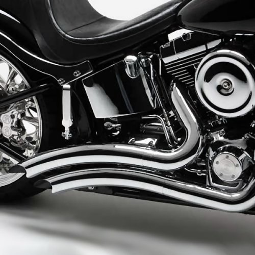 Vance & Hines Chrome Big Radius Exhaust System For Various Harley Davidson Models (see specifications for exact fitments)- (Vance And Hines Exhaust For Harley Davidson)