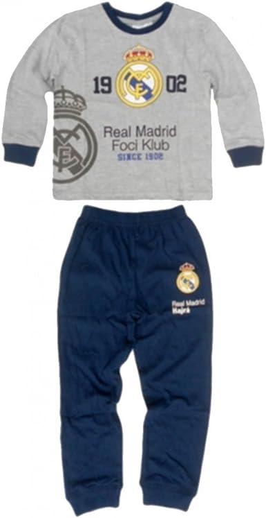 Real Madrid - Pijama dos piezas - para niño gris 7 años ...