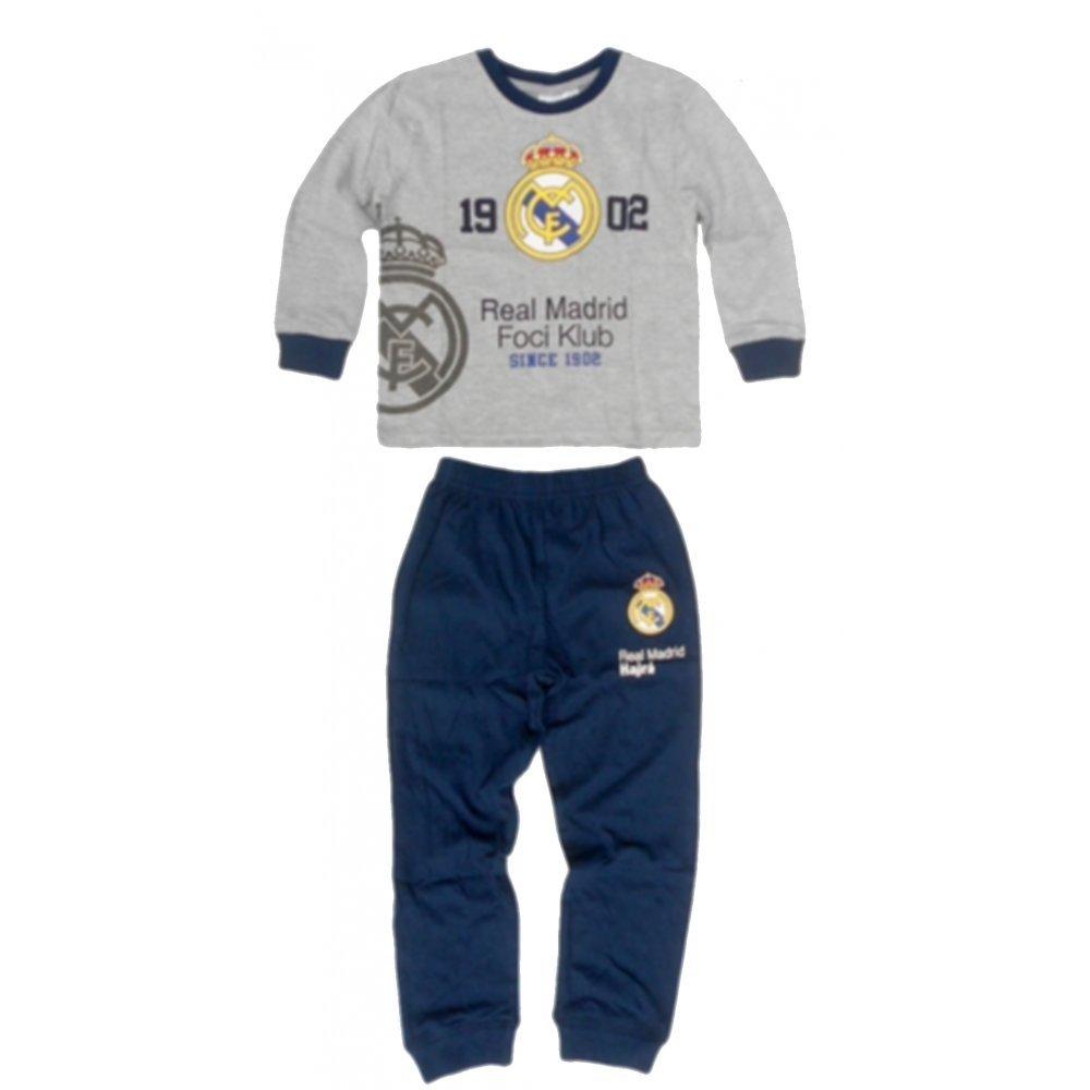 Real Madrid - Pijama dos piezas - para niño gris 7 años  Amazon.es a2d8e5bd149a9
