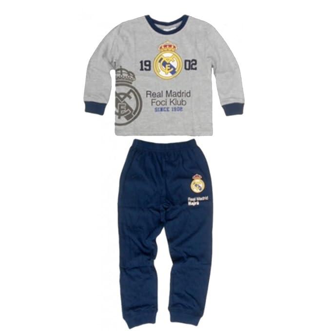 Real Madrid - Pijama dos piezas - para niño gris 7 años