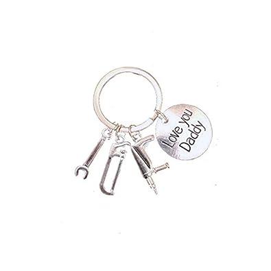 Llavero con colgante de llave inglesa, diseño con texto en ...
