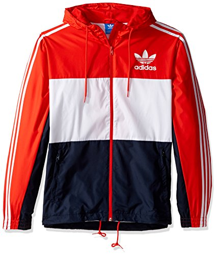 adidas Men's Outerwear | Originals California Windbreaker, Core Red, XX-Large by adidas