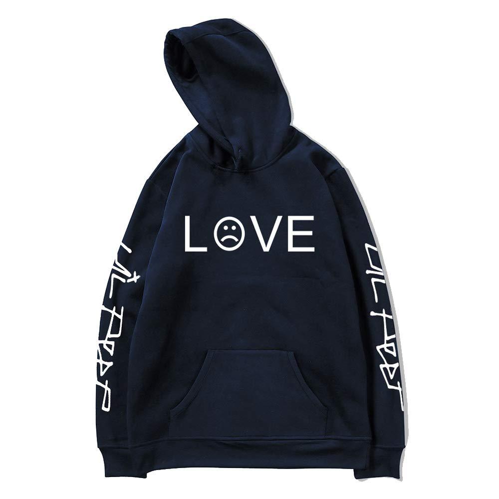 Lil Peep Love Hoodies Men Sweatshirts Hooded Pullover Casual Women Homme Harajuku Fashion Sweatshirts Blue