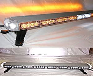 Amazon Com 47 Quot Super Bright Led Amber Clear Lens Lightbar