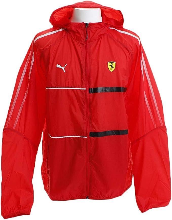 Puma Scuderia Ferrari Jacket Hooded Outdoor Jacket Sports Jacket T7 City Runner 2019 Men S Red Amazon De Bekleidung